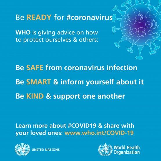 WHO Be Ready for #coronavirus