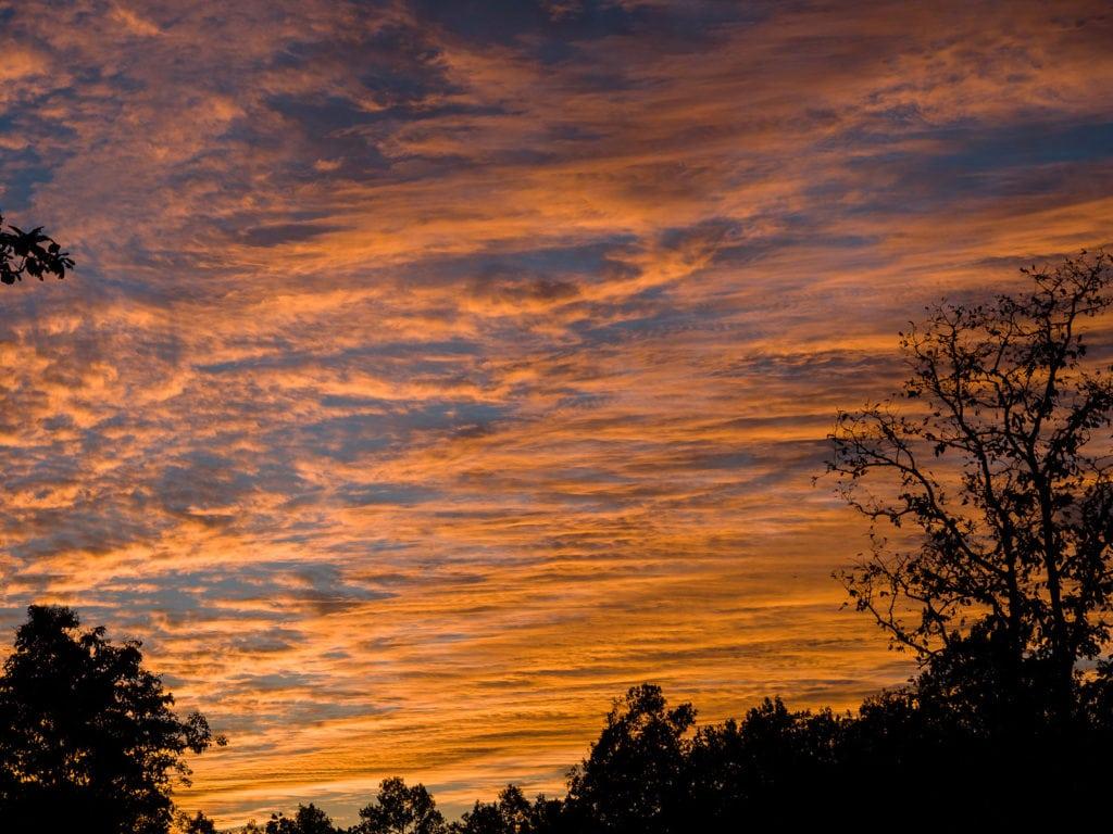 Sunset at Kanha